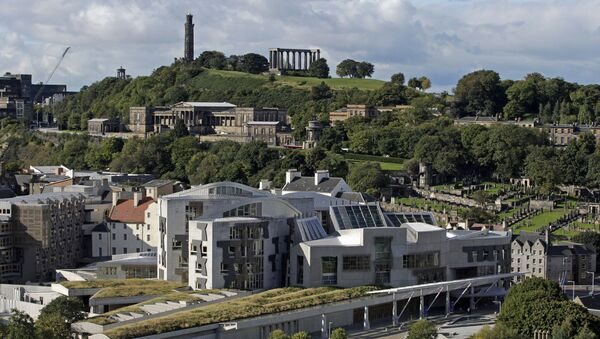 The Scottish Parliament building is pictured in the Holyrood area of Edinburgh, on September 30, 2008 - Sputnik International