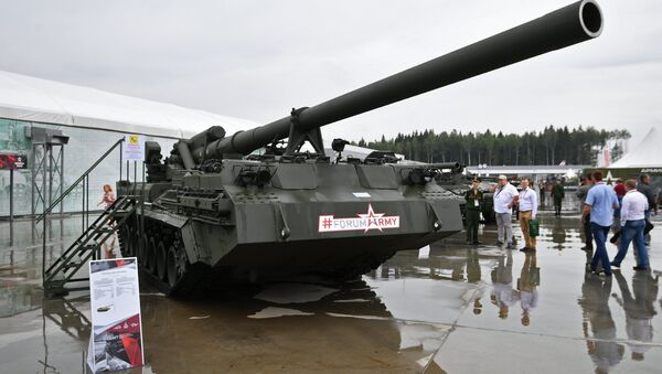 A 2S7M Malka self-propelled gun at the Army 2017 International Military-Technical Forum outside Moscow. - Sputnik International