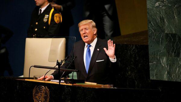 U.S. President Donald Trump delivers his address to the United Nations General Assembly in New York, U.S., September 19, 2017 - Sputnik International