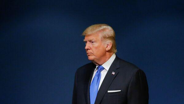 U.S. President Donald Trump arrives to addresses the 72nd United Nations General Assembly at U.N. headquarters in New York, U.S - Sputnik International