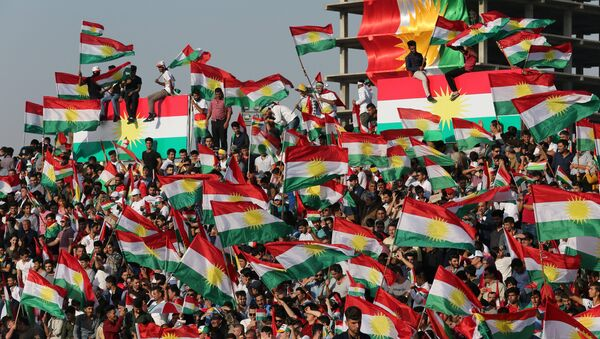 Kurds celebrate to show their support for the upcoming September 25th independence referendum in Erbil, Iraq - Sputnik International