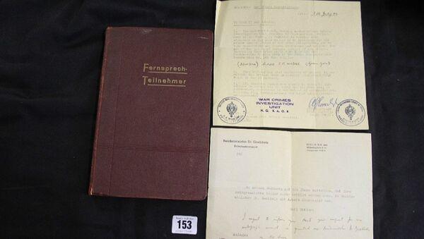 Adolf Hitler's phone directory - Sputnik International