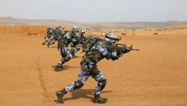Chinese Troops Drill Outside New Base in Djbouti - Sputnik International
