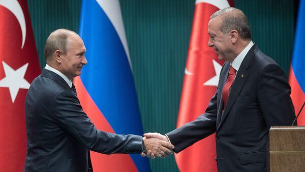 Visit of Russian President Vladimir Putin to Ankara, Turkey - Sputnik International