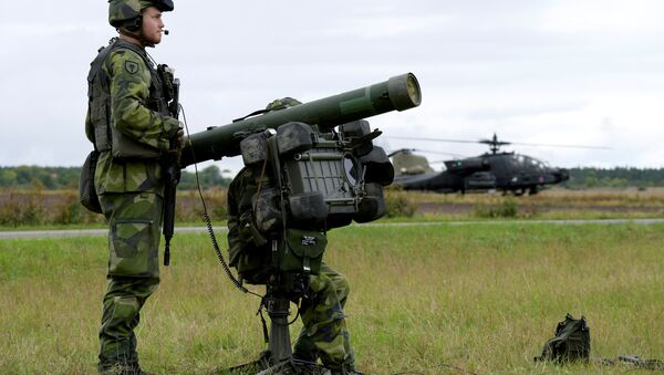 Swedish air defence practice for the first time against attack helicopters as part of the military exercise (File) - Sputnik International