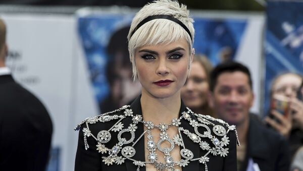 Actress Cara Delevingne poses for photographers on arrival at the premiere of the film 'Valerian', in London, Monday, July 24, 2016 - Sputnik International