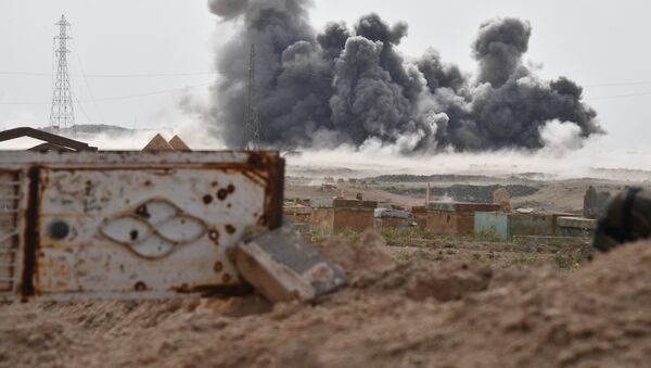 Russia's Aerospace Forces attack Daesh positions near Deir ez-Zor - Sputnik International