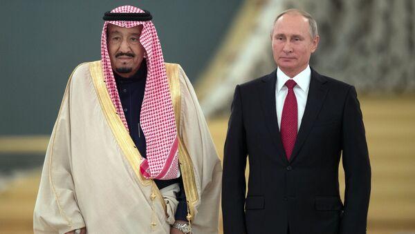 Russian President Vladimir Putin's talks with King Salman bin Abdulaziz Al Saud of Saudi Arabia - Sputnik International