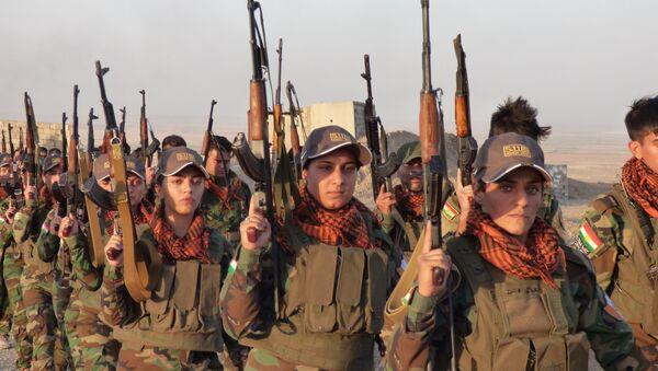 Peshmerga female fighters in Kirkuk - Sputnik International