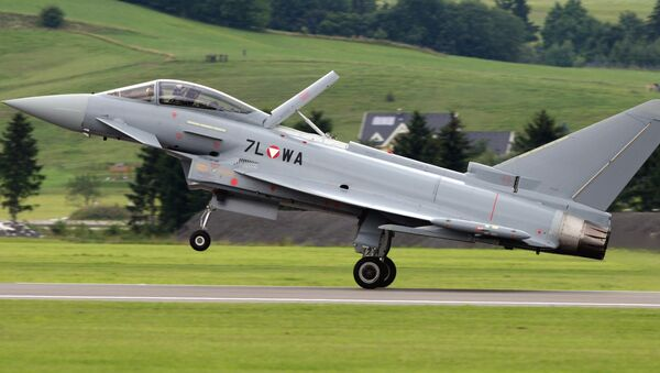 The first Eurofighter Typhoon jet fighter of the Austrian army lands in Zeltweg, Austria, in this file photo dated Thursday, July 12, 2007.  - Sputnik International