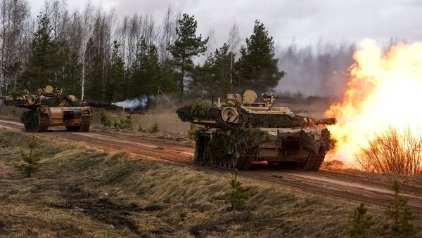 M1 Abrams tanks. File photo - Sputnik International