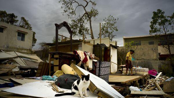 Разрушения после урагана Мария в городе Сан-Хуан, Пуэрто-Рико - Sputnik International