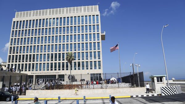 The United States flag flies at the newly-opened embassy in Havana, Cuba. (File) - Sputnik International