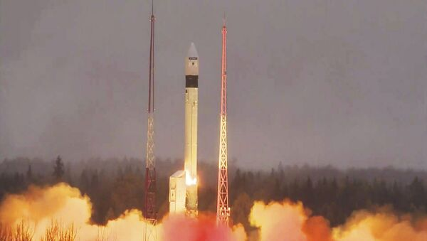 In this photo provided bi the European Space Agency ESA, the atmosphere-monitoring satellite for Europe's Copernicus programme, Sentinel-5P, lifted off from the Plesetsk Cosmodrome in northern Russia Friday, Oct. 13, 2017 - Sputnik International