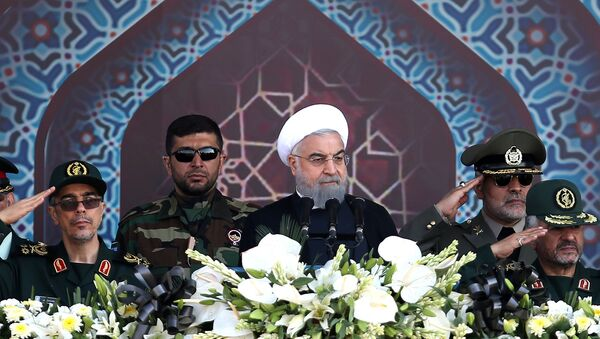 Iranian President Hassan Rouhani attends an armed forces parade in Tehran, Iran, September 22, 2017. - Sputnik International