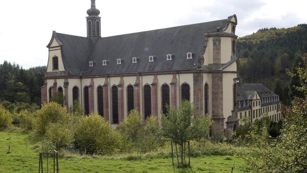In this Oct. 12, 2017 photo the church of Himmerod monastery is photographed. The Cistercian monastery that's existed for almost 900 years ago in what is now western Germany is closing down for good, due to a shortage of monks. (Harald Tittel/dpa via AP) - Sputnik International
