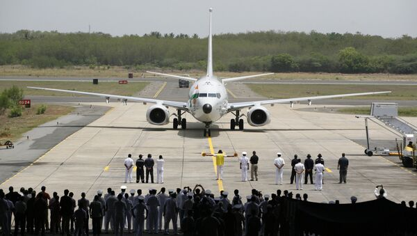 A Boeing P-8I aircraft arrives for its induction at the Naval Air Station Rajali in Arrakonam, some 58 miles from Chennai, India. (File) - Sputnik International