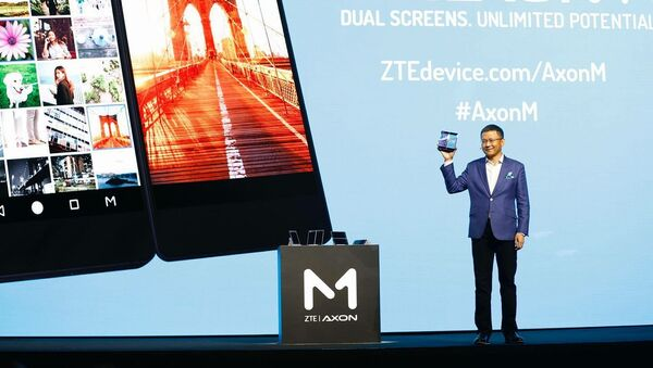 Introducing ZTE's first foldable smartphone with dual screens. The AxonM. - Sputnik International