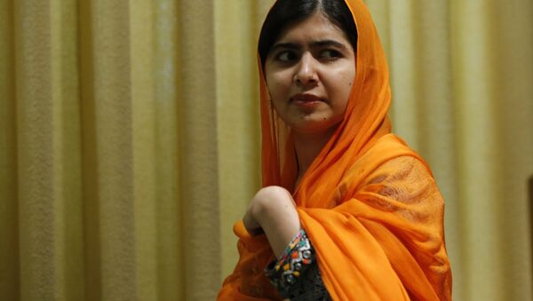 Pakistani Nobel Prize laureate and children's education advocate Malala Yousafzai arrives to address the 72nd United Nations General Assembly at UN headquarters in New York, US, September 20, 2017. - Sputnik International