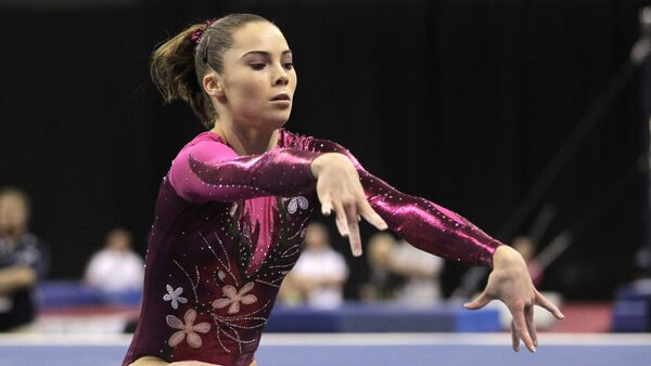 McKayla Maroney performs in the floor exercise during the women's senior division at the U.S. gymnastics championships on Friday, June 8, 2012, in St. Louis. - Sputnik International