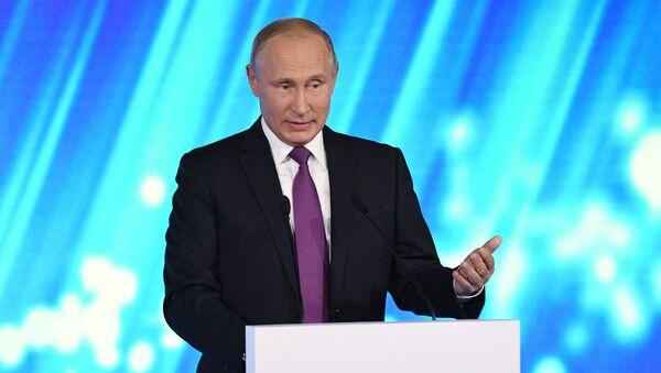 Russian President Vladimir Putin takes part in final plenary session of Valdai International Discussion Club meeting - Sputnik International