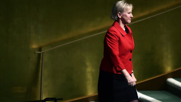 Sweden's Foreign Minister Margot Wallstrom arrives to address the 72nd Session of the United Nations General assembly at the UN headquarters in New York on September 22, 2017 - Sputnik International