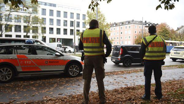 Police secure the area at Rosenheimer Platz square in Munich, Germany, Saturday, Oct. 21, 2017 - Sputnik International