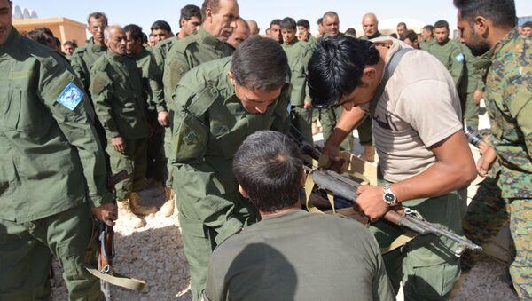 SDF training in Raqqa - Sputnik International