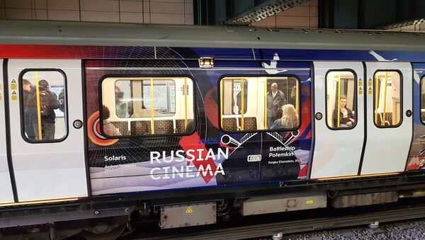 The themed train 'The Heart of Russia' launched on the London underground - Sputnik International