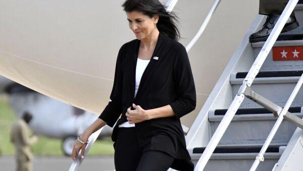 US Ambassador to the United Nations Nikki Haley arrives in Juba, South Sudan, Wednesday, Oct. 25, 2017. - Sputnik International