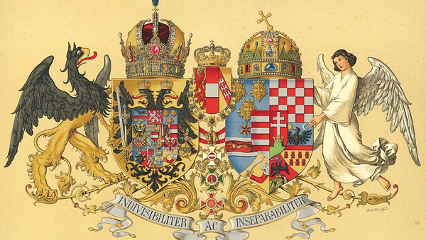 Middle Common Coat of Arms of Austria-Hungary, designed in 1915 in order to replace an older coat of arms - Sputnik International