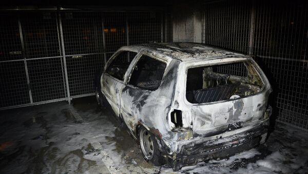 Burned car. (File) - Sputnik International