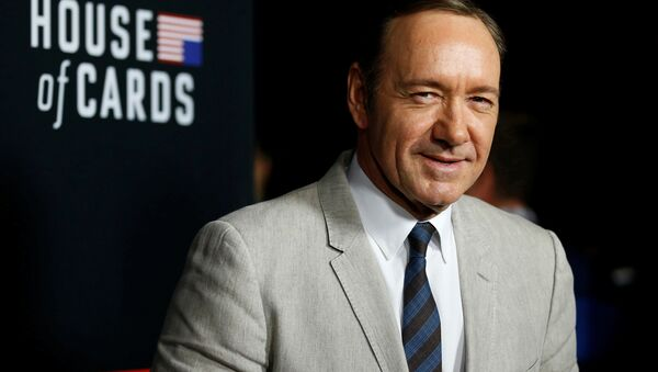 Cast member Kevin Spacey poses at the premiere for the second season of the television series House of Cards at the Directors Guild of America in Los Angeles, California. (File) - Sputnik International