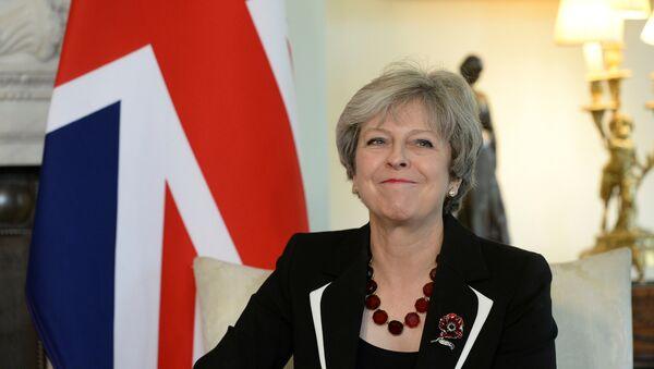 Britain's Prime Minister Theresa May meets Israel's Prime Minister Benjamin Netanyahu in 10 Downing Street, London November 2, 2017. - Sputnik International