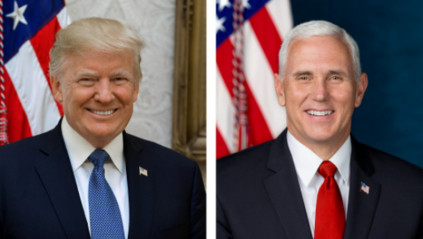 These photos, released by the White House on October 31, 2017, are the official portraits of President Donald Trump and Vice President Mike Pence. - Sputnik International
