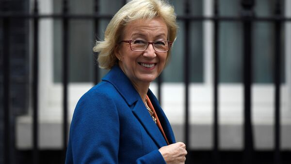 The Leader of the House of Commons, Andrea Leadsom, arrives in Downing Street in central London, Britain - Sputnik International