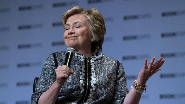 Former Secretary of State Hillary Clinton speaks during the Book Expo event in New York Thursday, June 1, 2017 - Sputnik International