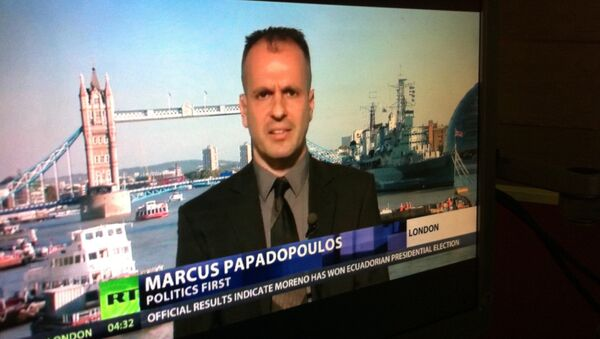 Chief Editor of the UK magazine Politics First Marcus Papadopoulos - Sputnik International