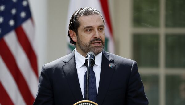 Lebanese Prime Minister Saad Hariri speaks during a joint news conference with President Donald Trump in the Rose Garden of the White House, Tuesday, July 25, 2017, in Washington - Sputnik International