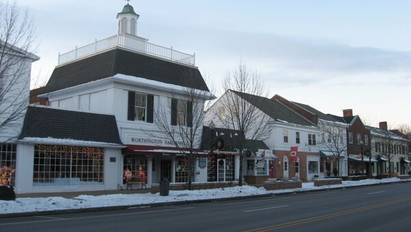 Buildings on the western side of the 600 block of High Street (U.S. Route 23) in downtown Worthington, Ohio, US - Sputnik International