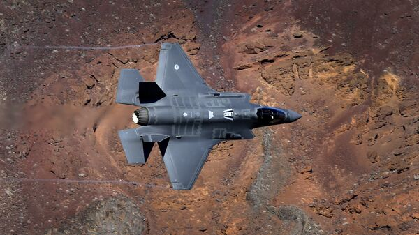 In this Feb. 28, 2017, photo, a Lockheed Martin F-35A Lighting II from the 323 Squadron, Royal Netherlands Air Force flies through the nicknamed Star Wars Canyon on the Jedi transition in Death Valley National Park, Calif. - Sputnik International