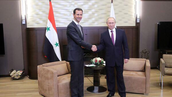 Vladimir Putin meets with Syrian President Bashar Al-Assad - Sputnik International