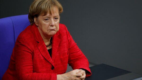 German Chancellor Angela Merkel attends a session of the Bundestag in Berlin, Germany, November 21, 2017 - Sputnik International