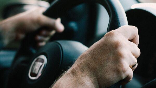 A driver behind the wheel - Sputnik International