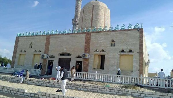 View of the Rawda mosque, roughly 40 kilometres west of the North Sinai capital of El-Arish, after a gun and bombing attack - Sputnik International