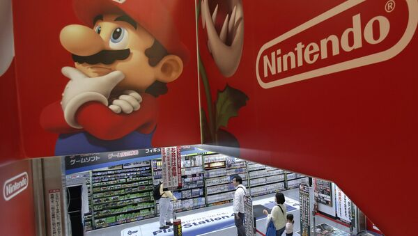 Logo of Nintendo and Super Mario characters at an electronics store in Tokyo. (File) - Sputnik International