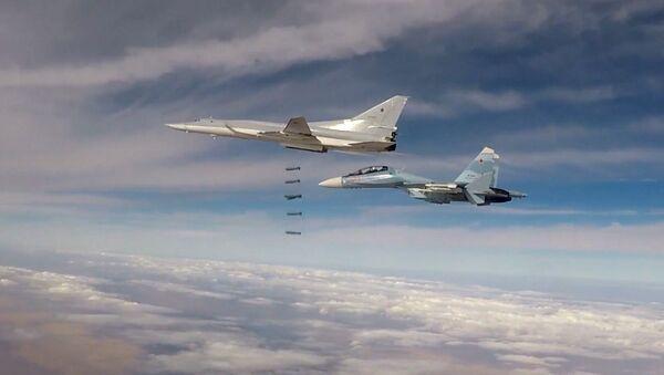 Six Tu-22M3 bombers strike terrorist facilities in Syria - Sputnik International