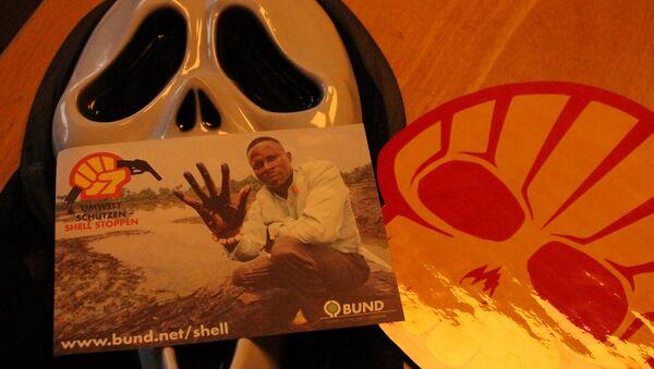 Aktion & Videodreh Shell HH 22.02.14 - Sputnik International