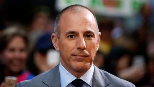 Host Matt Lauer pauses during a break while filming NBC's Today show at Rockefeller Center in New York, U.S., May 3, 2013. - Sputnik International