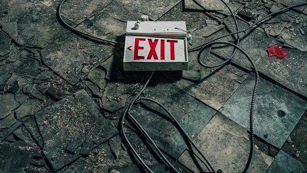 Exit sign - Sputnik International